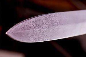 Point of the UT Bladesmithing Club Dagger
