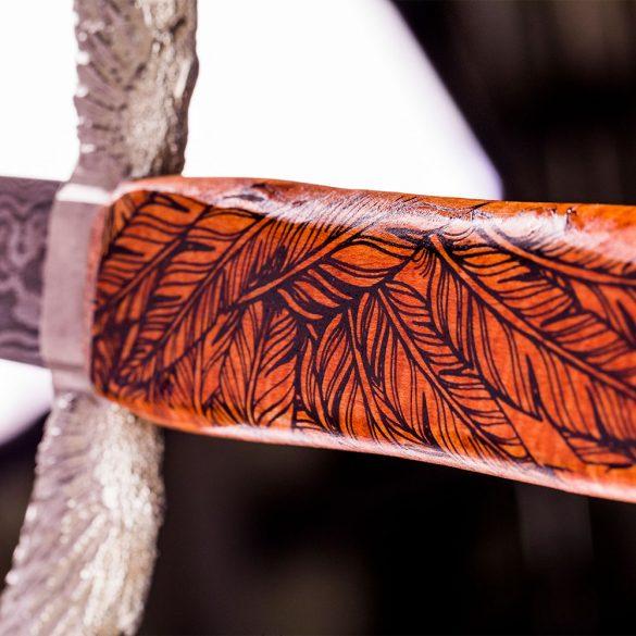Hilt of blade designed by UT's Bladesmithing Club