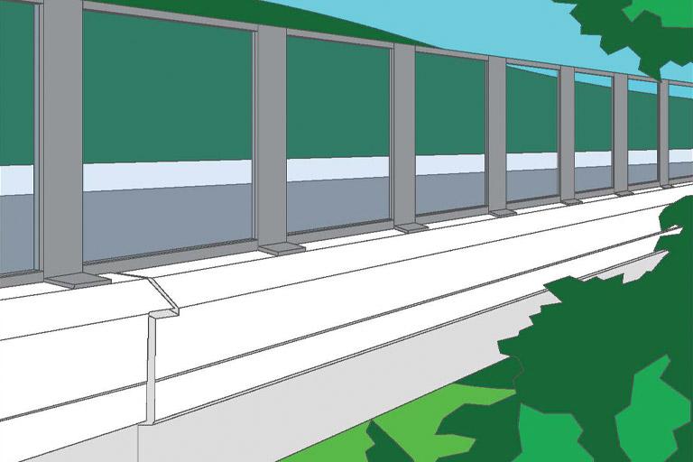 Plexiglass Natchez Trace Bridge Barrier Concept
