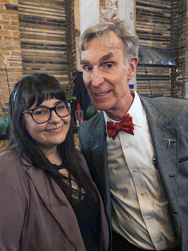 Samantha Ramsey Poses with Bill Nye