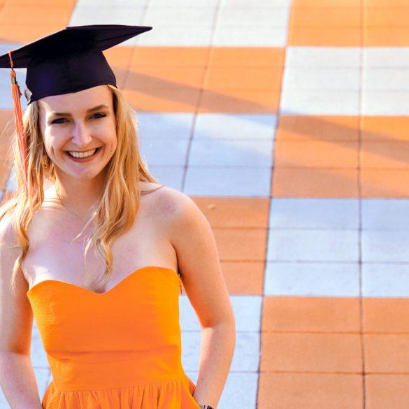 Camille Bergin with Graduation Cap