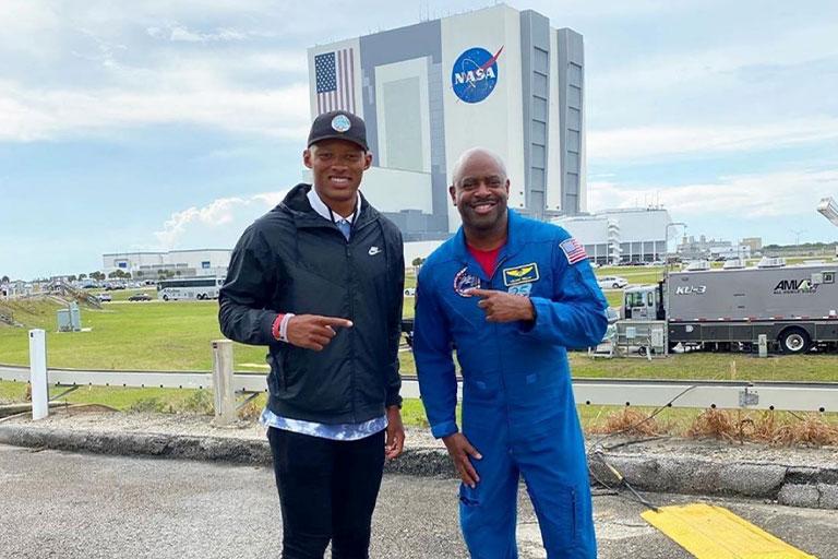 Josh Dobbs with Leland Melvin at NASA