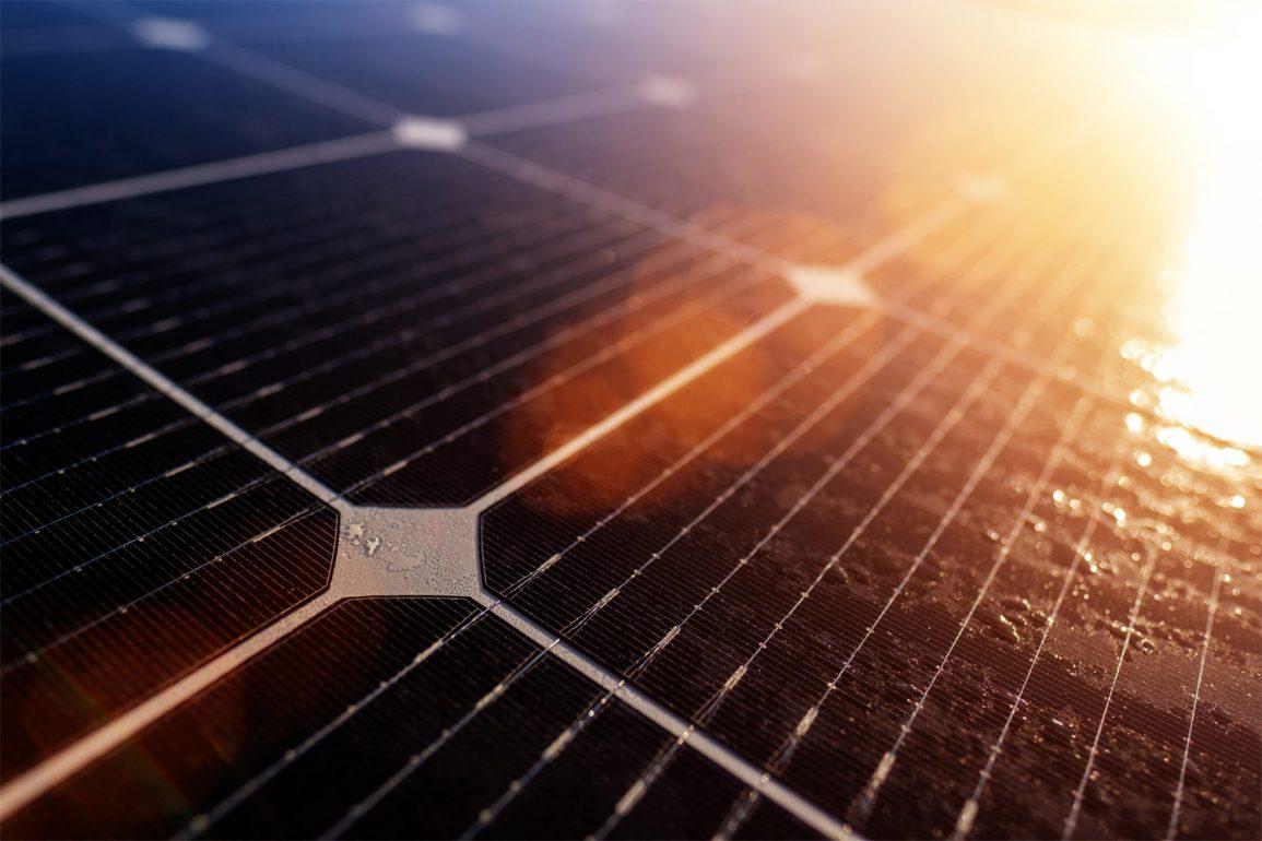 Artistic shot of Solar Panels