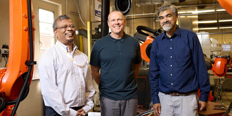 Suresh Babu, Uday Vaidya, and Tony Schmitz.