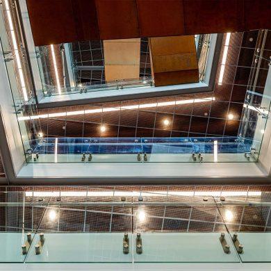 Atrium of the new Zeanah Engineering Complex